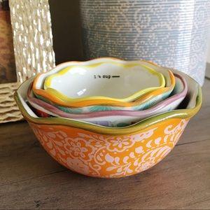 PIONEER WOMAN Ceramic 4-Piece Measuring Bowls
